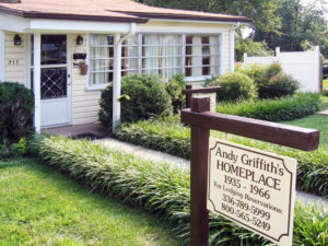 Long time residence of Andy Griffith in his home town. Mount Airy was the inspiration for Mayberry in the Andy Griffith TV show.