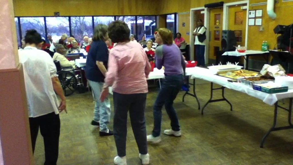 holiday party at senior home….funny dance!