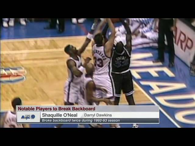NBA ESPN Historic backboard-breaking dunks
